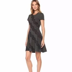 Eliza J fit n flare cap sleeve dress with lace